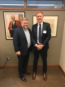 MP Randy Hoback w Peter Maddox Dec 2018
