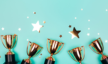 Image of awards and stars